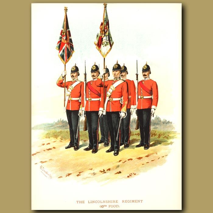 Antique print. The Lincolnshire Regiment (10th Foot)