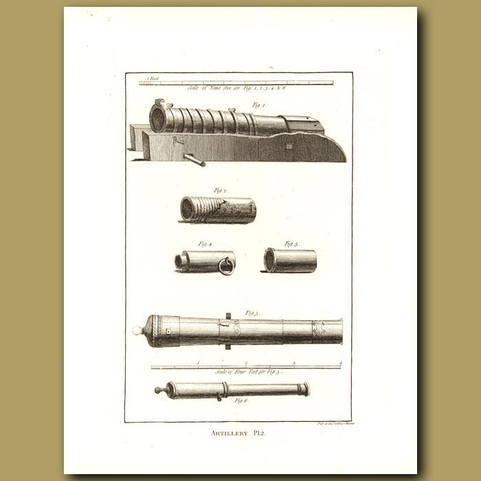 Antique print. Artillery Pl.2