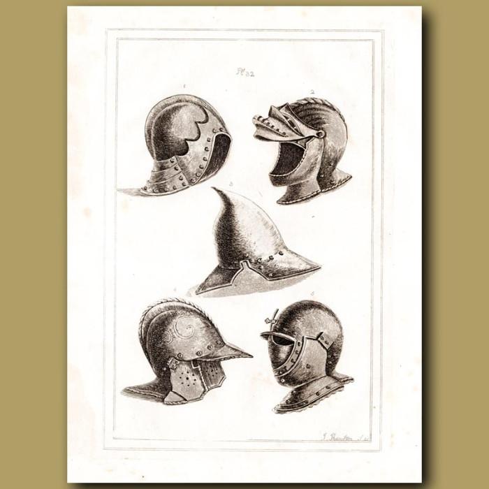 Antique print: Venetian Helmets
