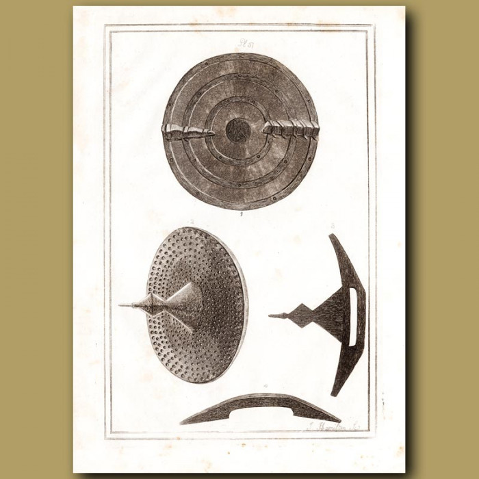 Antique print: Concave Roundel Made Of Leather
