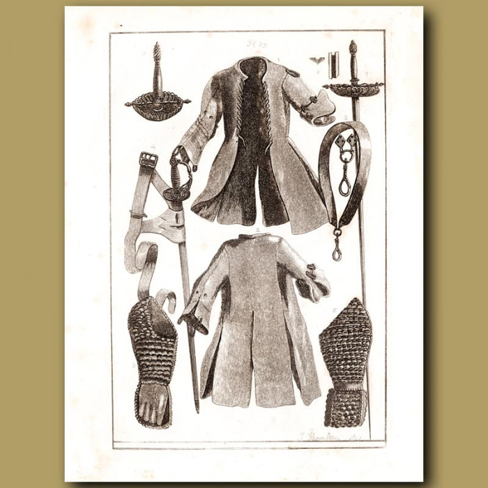 Antique print: A Leather Coat Used As A Form Of Armour
