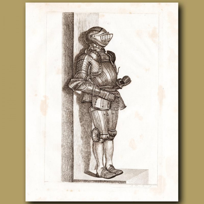 Antique print: A Suit Of Fluted Armour From Germany