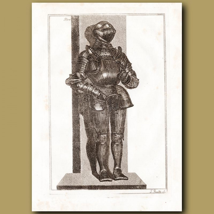 Antique print: Suit Of Fluted Armour