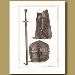 A Two Handed Sword And Shields