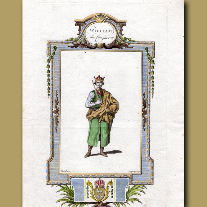 Antique print. William The Conqueror