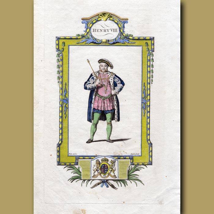 Antique print. King Henry VIII