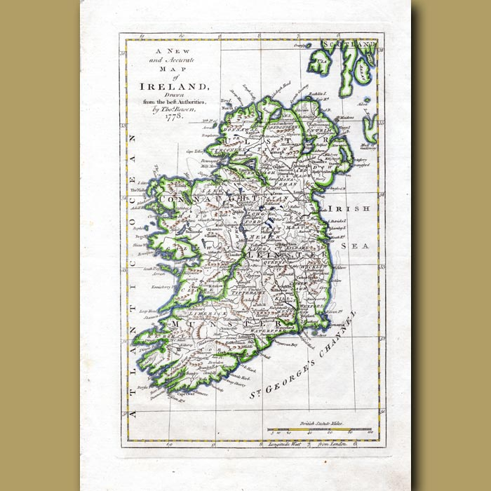 Antique print. A New And Accurate Map Of Ireland