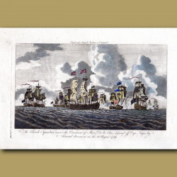 The French Squadron Defeated Off Cape Logos By Admiral Boscawen On The 18 August 1759