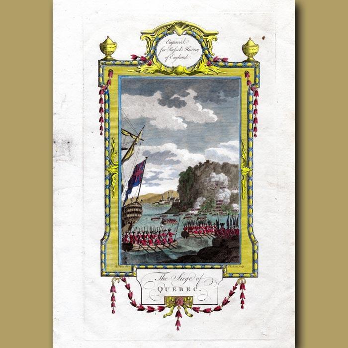 Antique print. The Siege Of Quebec