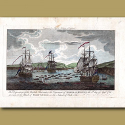 The Disposition Of The British Fleet Under The Command Of Admiral Keppel The 8th Day Of April 1761