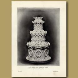 Piped Three-Tier Wedding Cake