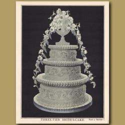 Three-Tier Bride's Cake