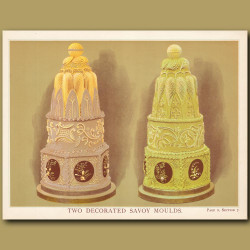 Two Decorated Savoy Moulds