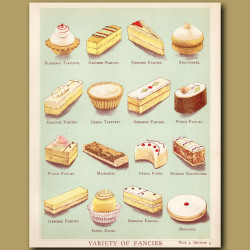 Variety Of Fancies. Genoa Tart, Petit Four And More