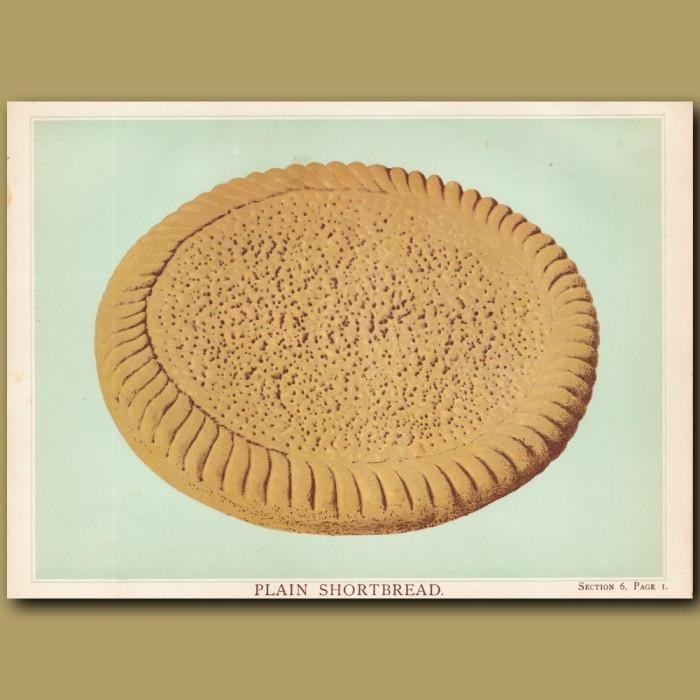 Plain Shortbread: Genuine antique print for sale.