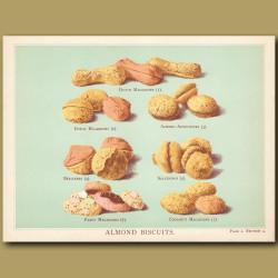 Almond Biscuits. Macaroons, Salferinos, Apricotines