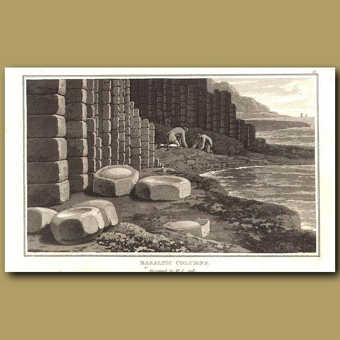 Antique print. Basaltic Columns