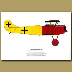 Fokker D – VII Plane 1918