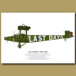 Handley Page 0/400 Plane 1918