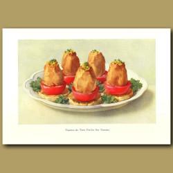 Pommes De Terres Farcies Sur Tomates