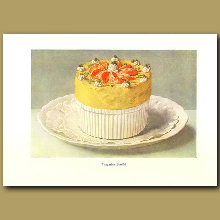 Antique print. Tangerine Souffle