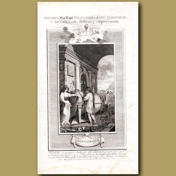 Frontispiece: Genuine antique print for sale.