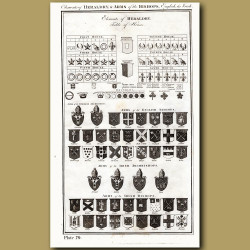 Elements of Heraldry & Arms of the Bishops, English and Irish