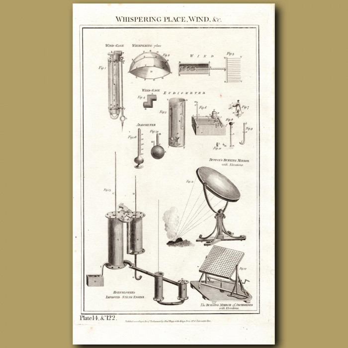 Whispering Place, Wind: Genuine antique print for sale.