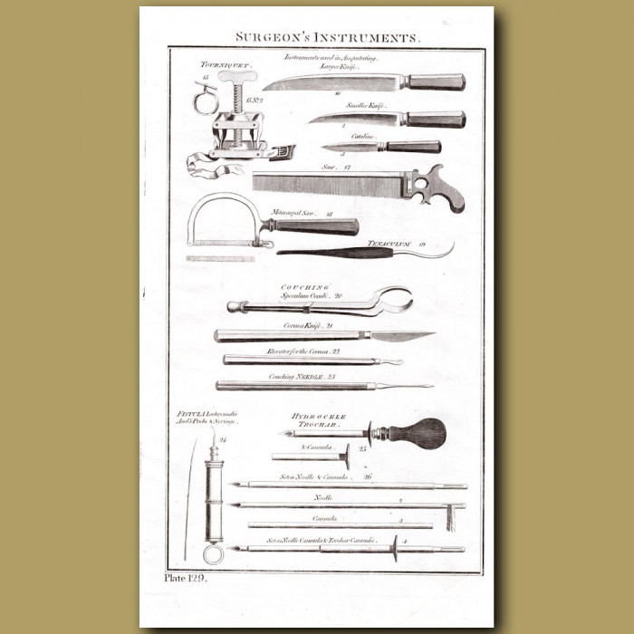 Systems of Surgery: Genuine antique print for sale.