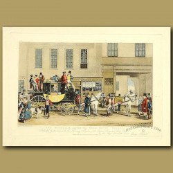 Coaching In 1831. The Blenheim, Leaving The Star Hotel, Oxford