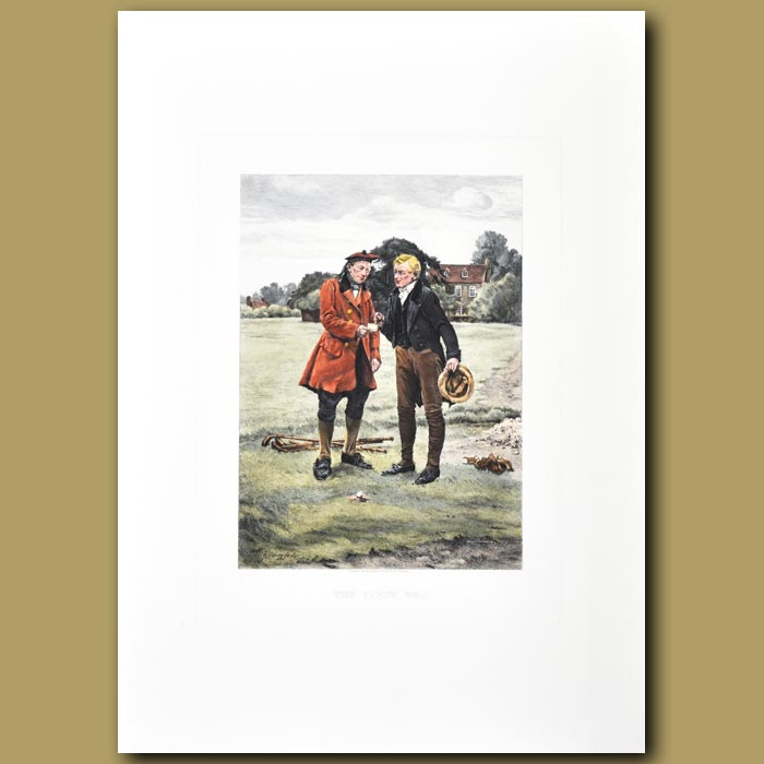 Antique print. Golf. The First Tee