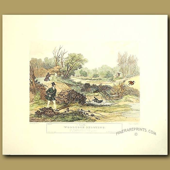 Antique print. Game Shooting By Turner. November Woodcock Shooting