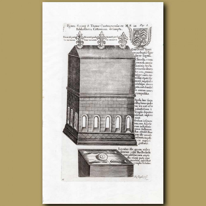 Antique print. St. Thomas's Library