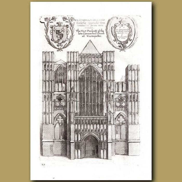 Antique print. Westminster church