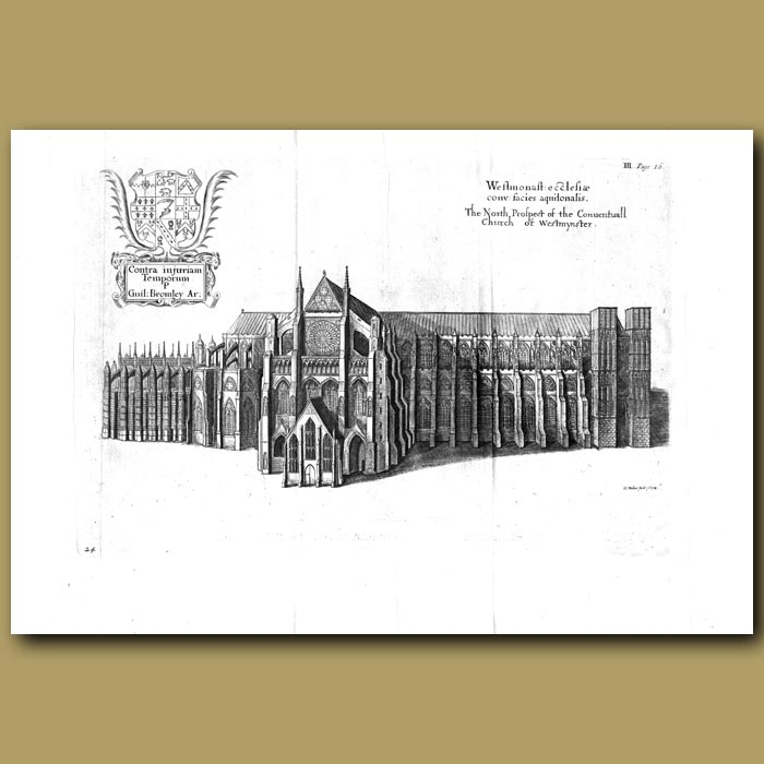 Antique print. Westminster Cathedral