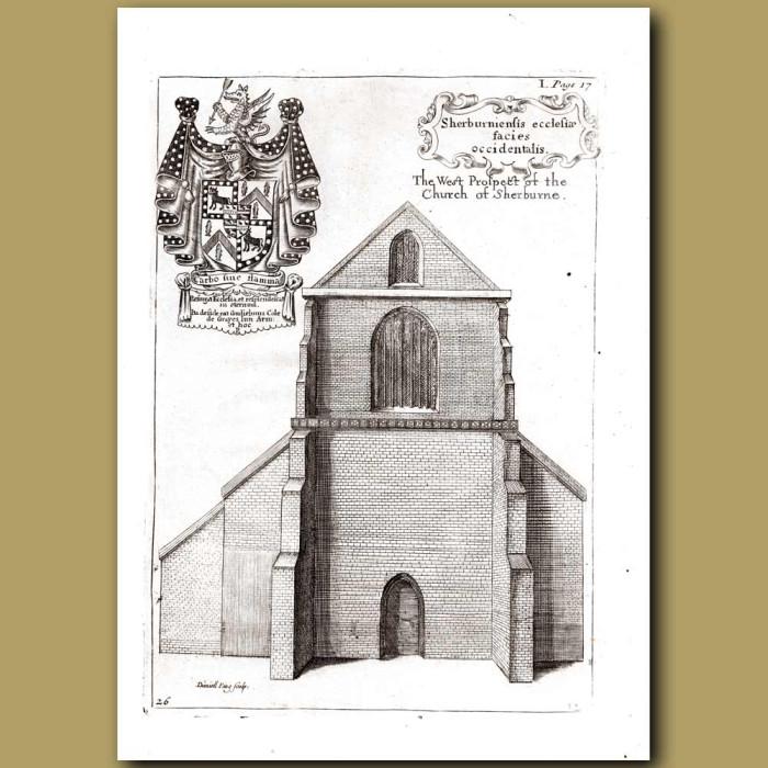 Antique print. Church of Sherburne
