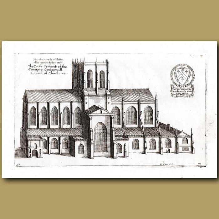 Antique print. Church of Shireburne