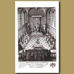Hugh Lupus, Earl Of Chester Sitting In His Parliament With The Barons And Abbots