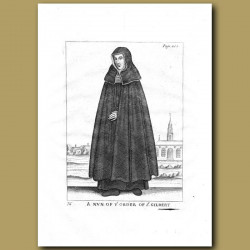 A Nun Of The The Order Of St.Gilbert