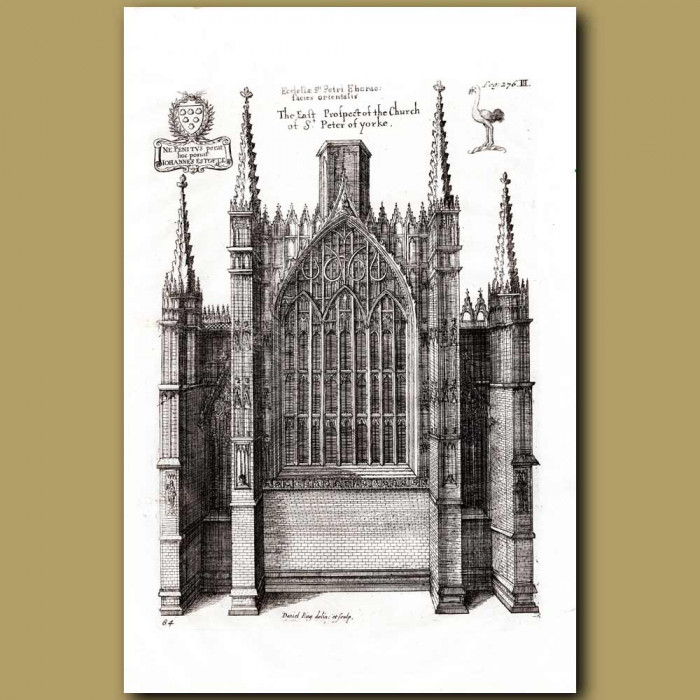 Antique print. Cathedral Church of St.Peter of Yorke