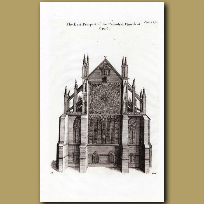 Antique print. St. Paul's Cathedral, east prospect