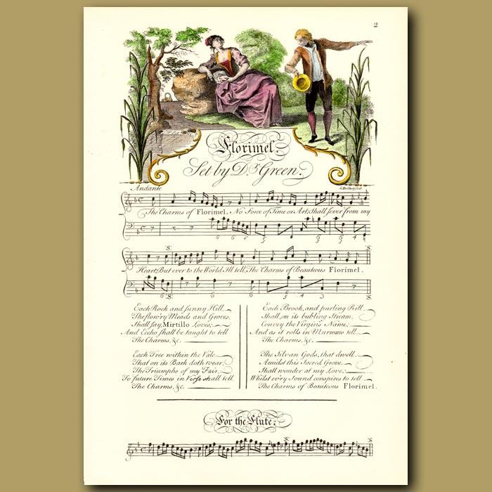 Antique print. Florimel Set by Dr Green