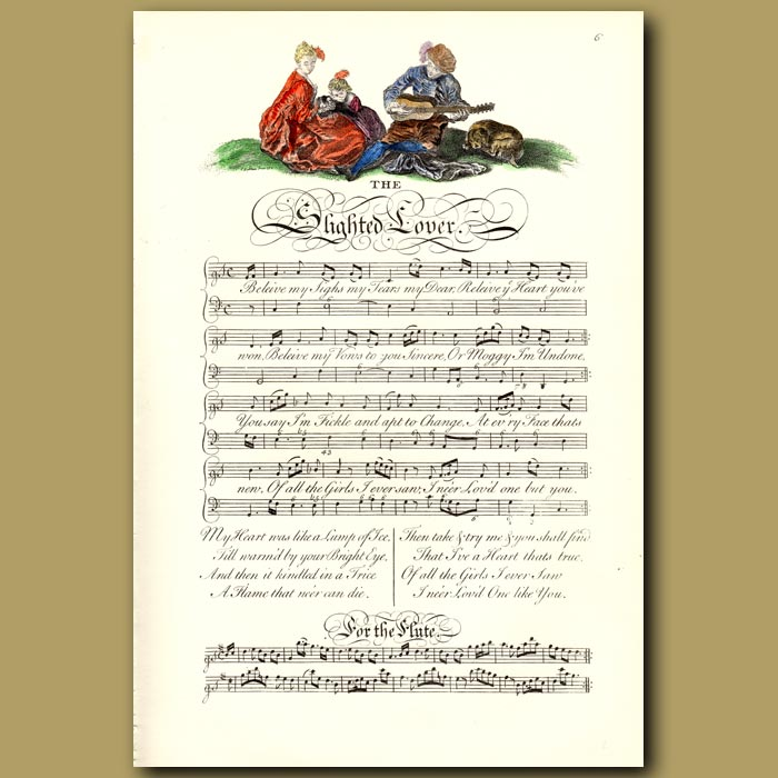 Antique print. The Slighted Lover
