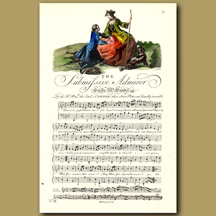 Antique print. The Submissive Admirer