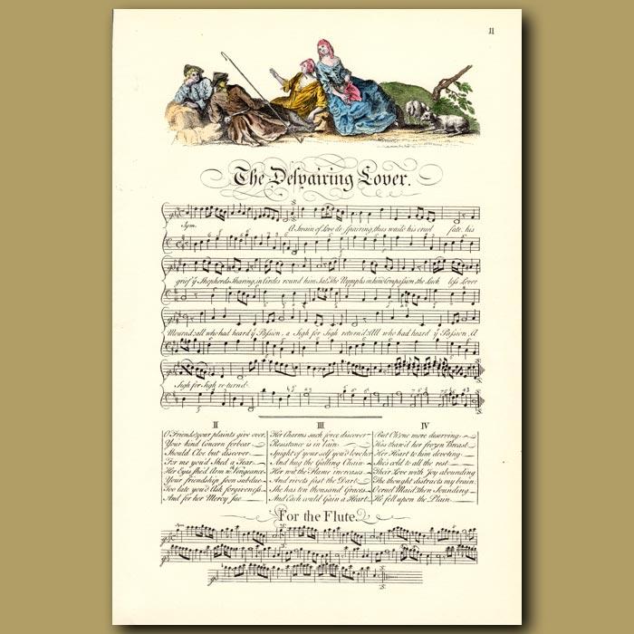 Antique print. The Despairing Lover