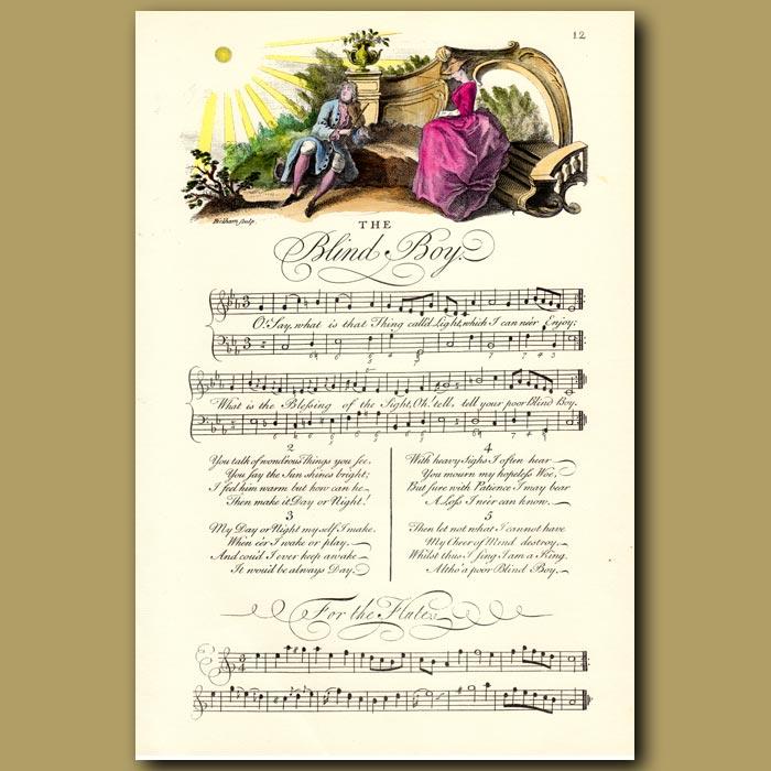 Antique print. The Blind Boy