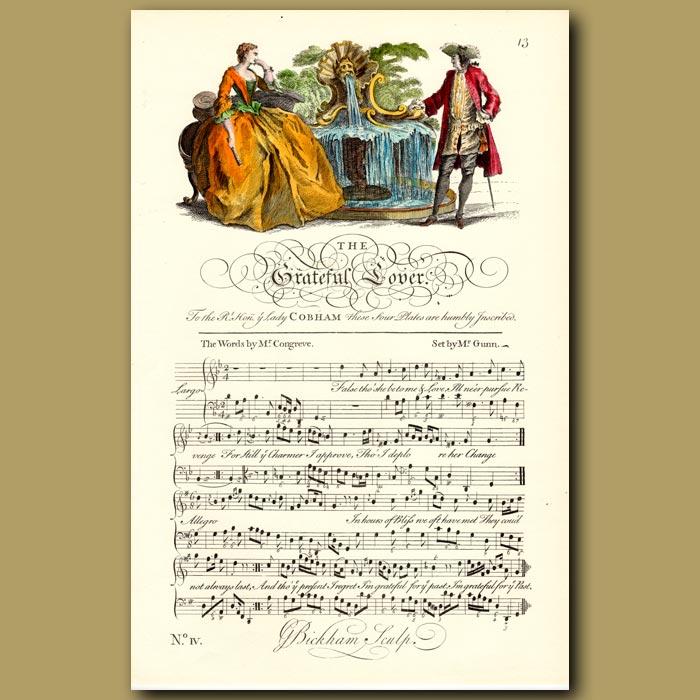 Antique print. The Grateful Lover