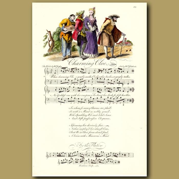 Antique print. Charming Cloe