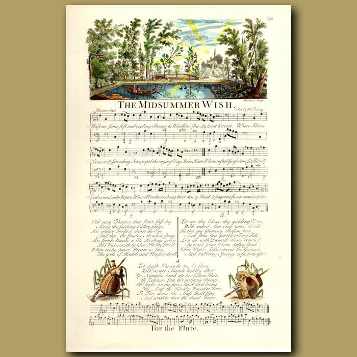 Antique print. The Midsummer Wish