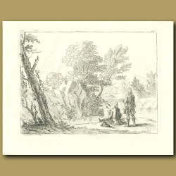18th Century Gentlemen Drawing In The Countryside
